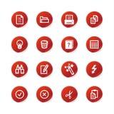etikett för red för förlagesymboler vektor illustrationer