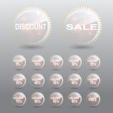 Etikett för Sale rabattprocent Royaltyfri Foto