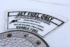 Etikett för strålbränsle Arkivbild