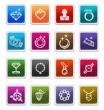 etikett för symbolsjeweleryserie vektor illustrationer