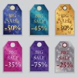 Etikett för valentindagförsäljningar Royaltyfri Bild