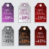 Etikett för valentindagförsäljningar Royaltyfria Foton