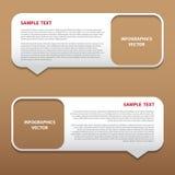 Etikett för vektorinfographicsbubbla Royaltyfria Foton