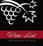 Etikett för vinlista Fotografering för Bildbyråer