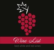 Etikett för vinlista Arkivfoton