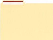 etikett för mappmapp Arkivfoton