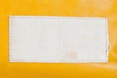 Etikett på läder Royaltyfria Bilder