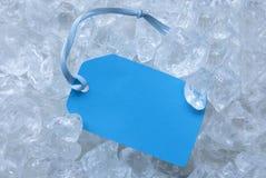 Etikett på is med kopieringsutrymme Royaltyfri Bild