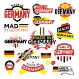 Etikett som göras i Tyskland Arkivbilder