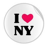 etikett york för ny serie för förälskelse royaltyfri illustrationer