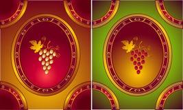 Etiketten of embleem voor Wijnen in oude stijl Stock Fotografie