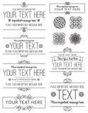 Etiketten en ontwerpelementen Stock Afbeelding
