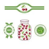 Etiketten en verpakking van natuurlijke producten Stock Foto