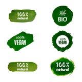 Etiketten met organische onderwerpen Royalty-vrije Stock Foto's