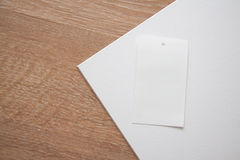 Etiketten op sepia cork texturized achtergrond Stock Foto's