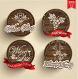Etiketten op vaten Royalty-vrije Stock Foto