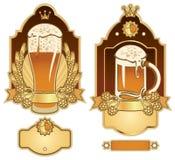 Etiketten voor bier Royalty-vrije Stock Foto's