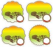Etiketten voor cake en anderen producten Royalty-vrije Stock Foto's