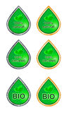 Etiketten voor natuurlijke producten bio, organisch, natuurlijk Royalty-vrije Stock Foto