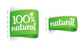 Etiketten voor natuurlijke productie. Royalty-vrije Stock Fotografie