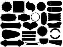 Etiketter Vektor Illustrationer