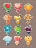 Etiketter för ballong för varm luft för tecknad film Royaltyfri Foto