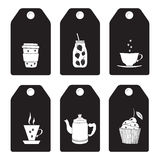 Etiketter för drinkar Royaltyfri Fotografi