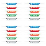 Etiketter för etikett för säsongförsäljningspapper Royaltyfri Bild