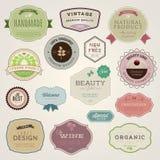 etiketter för etikettset Arkivfoton