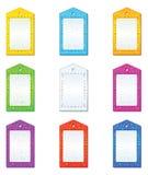 etiketter för färgset Vektor Illustrationer