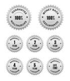Etiketter för garantigaranti Royaltyfri Fotografi