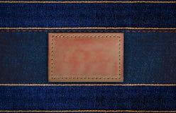 etiketter för grov bomullstvilljeansläder Royaltyfria Foton