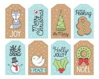 Etiketter för julferiegåva Royaltyfria Foton