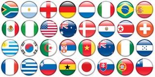 etiketter för knappflagganational stock illustrationer