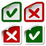 etiketter för kontrollfläck Arkivfoton
