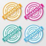 Etiketter för 100 procent garantipapper Arkivbilder