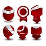 Etiketter för Sale och 100 procent tillfredsställelsegaranti vektor Royaltyfri Fotografi