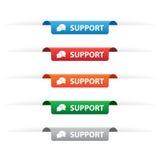 Etiketter för servicepappersetikett Arkivbild