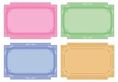 etiketter för set för kortfärgetiketter Arkivfoto