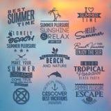 Etiketter för sommardesign Arkivfoto