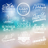 Etiketter för sommardesign Vektor Illustrationer