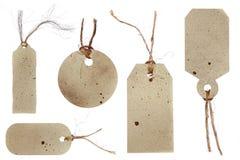 etiketter för stil för scrapbookin för gåvagrungepris Royaltyfria Bilder