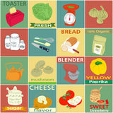 Etiketter för tappningkökbeståndsdelar Arkivbild