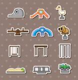 etiketter för tecknad filmparklekplats royaltyfri illustrationer