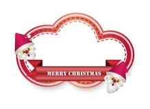 Etiketter för vektor för glad jul för jultomten Arkivbilder