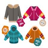 Etiketter för vinterförsäljningslag Royaltyfri Bild