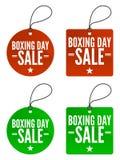 etiketter för boxningdagförsäljning Arkivfoton