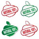 etiketter för naturlig produkt Fotografering för Bildbyråer