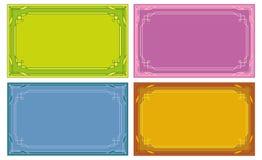 etiketter för set för kortfärgetiketter Arkivfoton