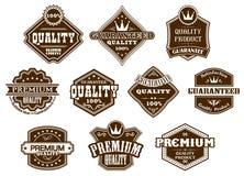 Etiketter och baner i västra stil Royaltyfria Bilder